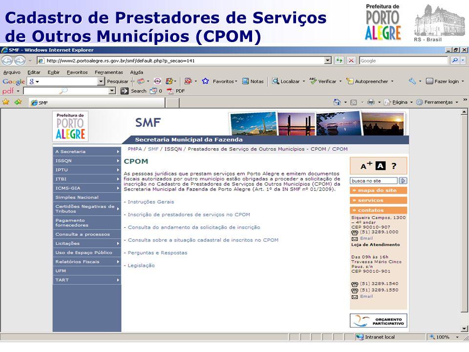 INSTRUÇÃO NORMATIVA SMF Nº 1/2009.DA FORMA PARA ENCAMINHAMENTO DAS INFORMAÇÕES Art.