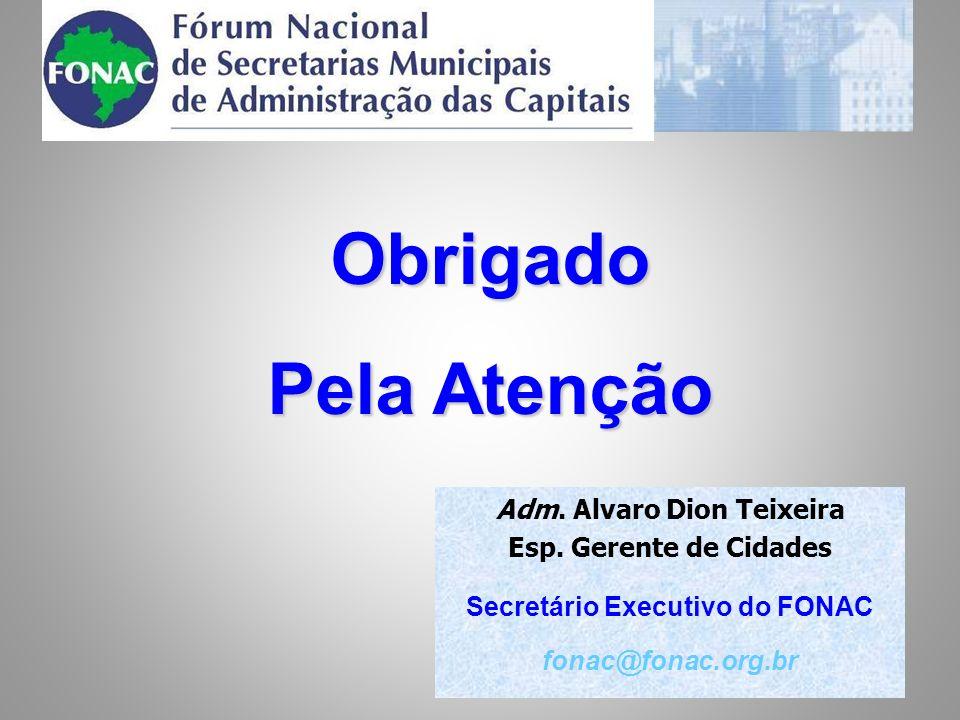 Obrigado Pela Atenção Adm. Alvaro Dion Teixeira Esp.