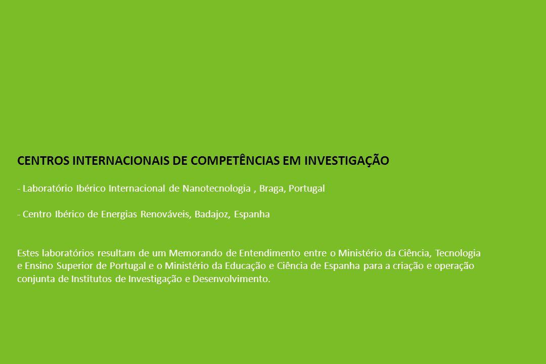 CENTROS INTERNACIONAIS DE COMPETÊNCIAS EM INVESTIGAÇÃO - Laboratório Ibérico Internacional de Nanotecnologia, Braga, Portugal - Centro Ibérico de Ener