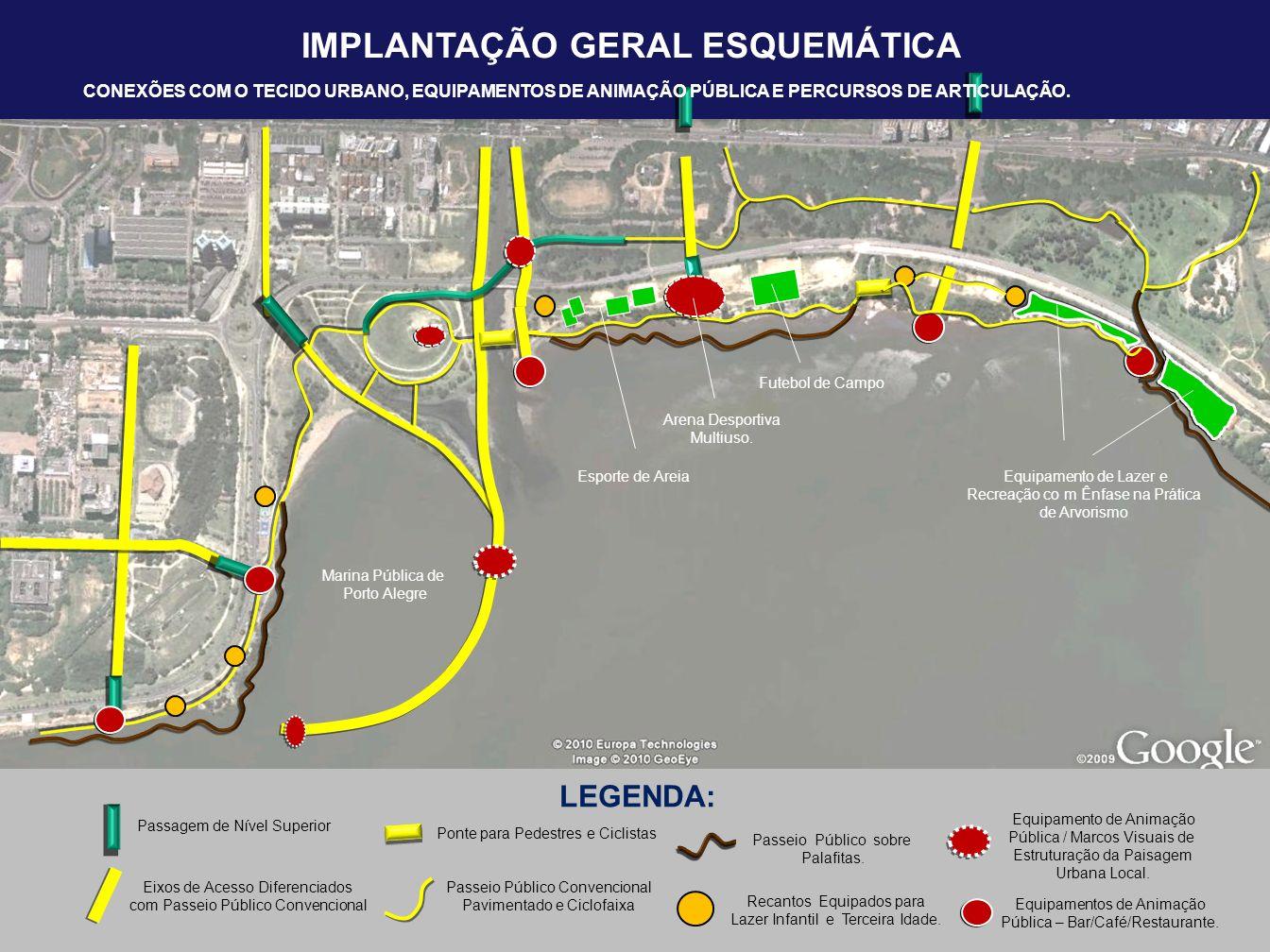 IMPLANTAÇÃO GERAL ESQUEMÁTICA LOCALIZAÇÃO PONTUAL DAS ÁREAS DE ESTACIONAMENTO.