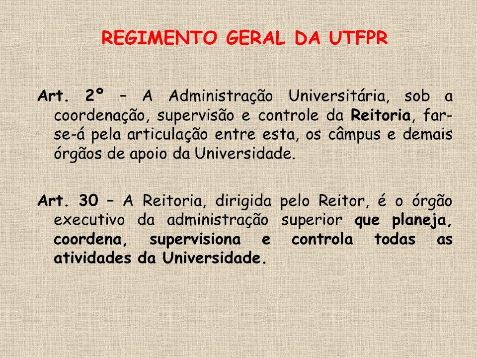 REGIMENTO GERAL DA UTFPR Art.