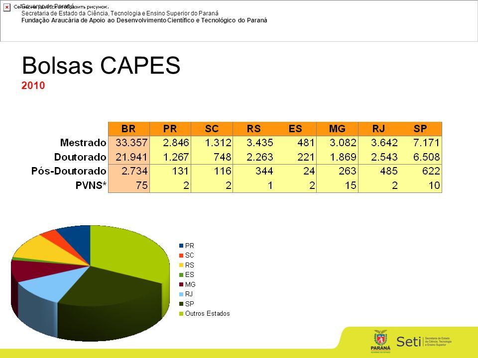 Governo do Paraná Secretaria de Estado da Ciência, Tecnologia e Ensino Superior do Paraná Fundação Araucária de Apoio ao Desenvolvimento Científico e Tecnológico do Paraná Bolsas CAPES 2010