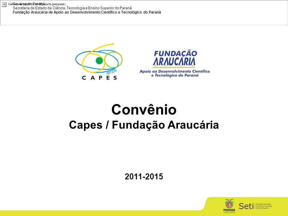 Governo do Paraná Secretaria de Estado da Ciência, Tecnologia e Ensino Superior do Paraná Fundação Araucária de Apoio ao Desenvolvimento Científico e Tecnológico do Paraná Convênio Capes / Fundação Araucária 2011-2015