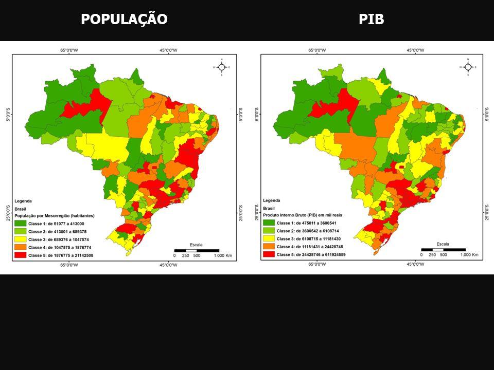 POPULAÇÃOPIB
