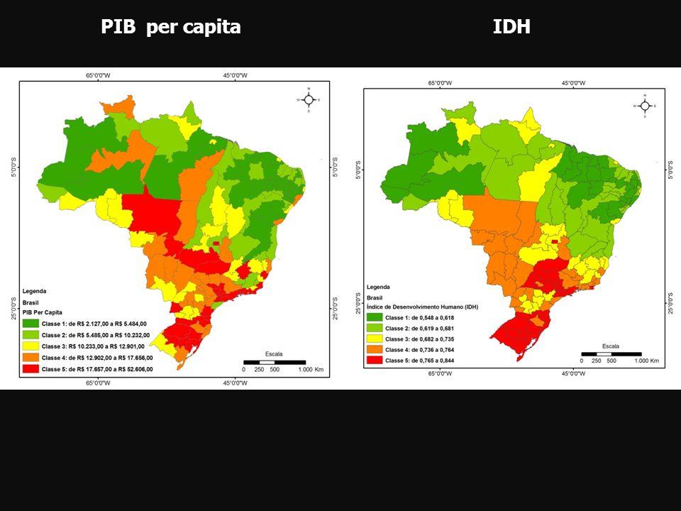 PIB per capitaIDH