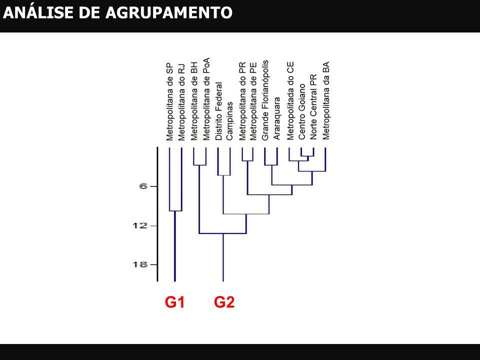 G1G2 ANÁLISE DE AGRUPAMENTO