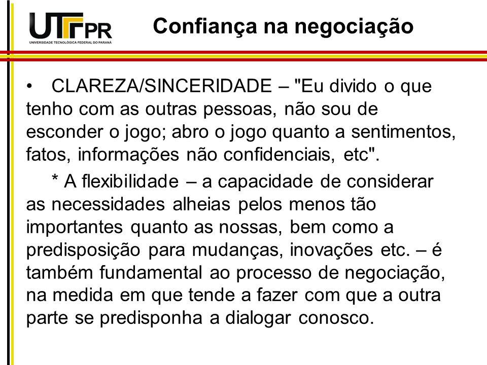 CLAREZA/SINCERIDADE –