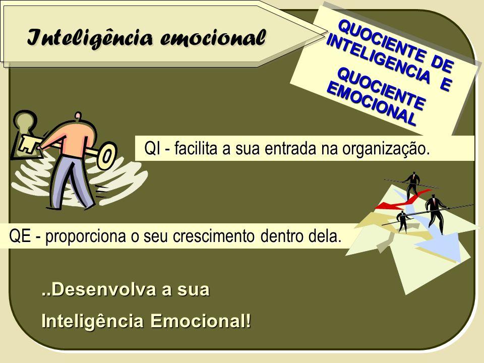 ..Desenvolva a sua Inteligência Emocional! QUOCIENTE DE INTELIGENCIA E QUOCIENTE EMOCIONAL QUOCIENTE EMOCIONAL QUOCIENTE DE INTELIGENCIA E QUOCIENTE E