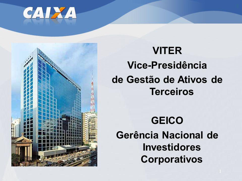 1 VITER Vice-Presidência de Gestão de Ativos de Terceiros GEICO Gerência Nacional de Investidores Corporativos