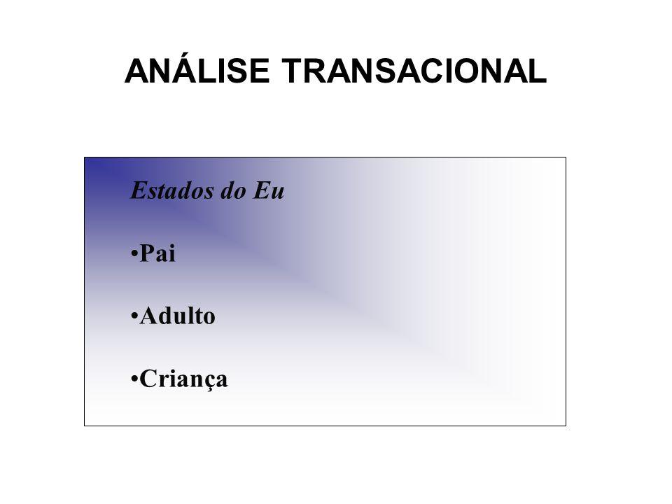 Análise Transacional EU CRIANÇA AJUSTADA/ADAPTADA São observadas formas de ação e regras, são evidentes ou naturais a cordialidade e o reconhecimento de autoridade.