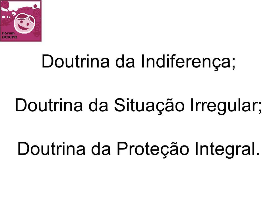 Doutrina da Indiferença; Doutrina da Situação Irregular; Doutrina da Proteção Integral.