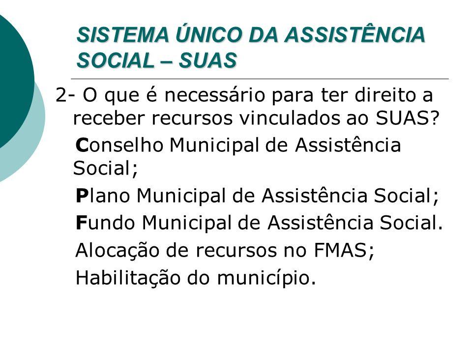 SISTEMA ÚNICO DA ASSISTÊNCIA SOCIAL – SUAS 3- Já estou habilitado, o que é Proteção Social Básica.