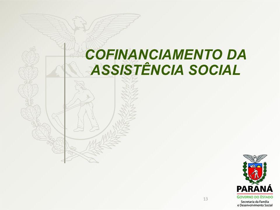 13 COFINANCIAMENTO DA ASSISTÊNCIA SOCIAL