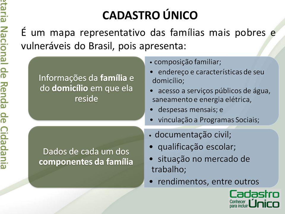 Secretaria Nacional de Renda de Cidadania Secretaria Nacional de Renda de Cidadania CADASTRO ÚNICO É um mapa representativo das famílias mais pobres e