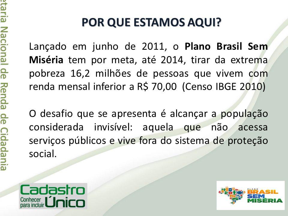 Secretaria Nacional de Renda de Cidadania Secretaria Nacional de Renda de Cidadania POR QUE ESTAMOS AQUI? Lançado em junho de 2011, o Plano Brasil Sem