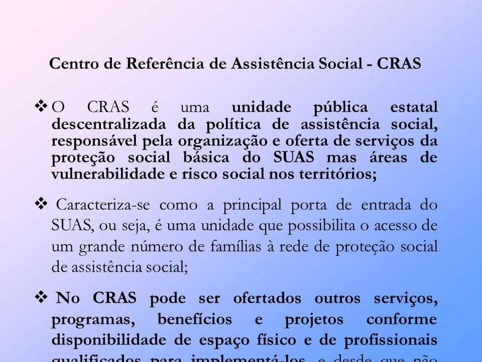 Forma de Financiamento O valor de referência, do cofinanciamento federal será de R$ 4.500,00/mês, por CRAS, independentemente do porte do município.