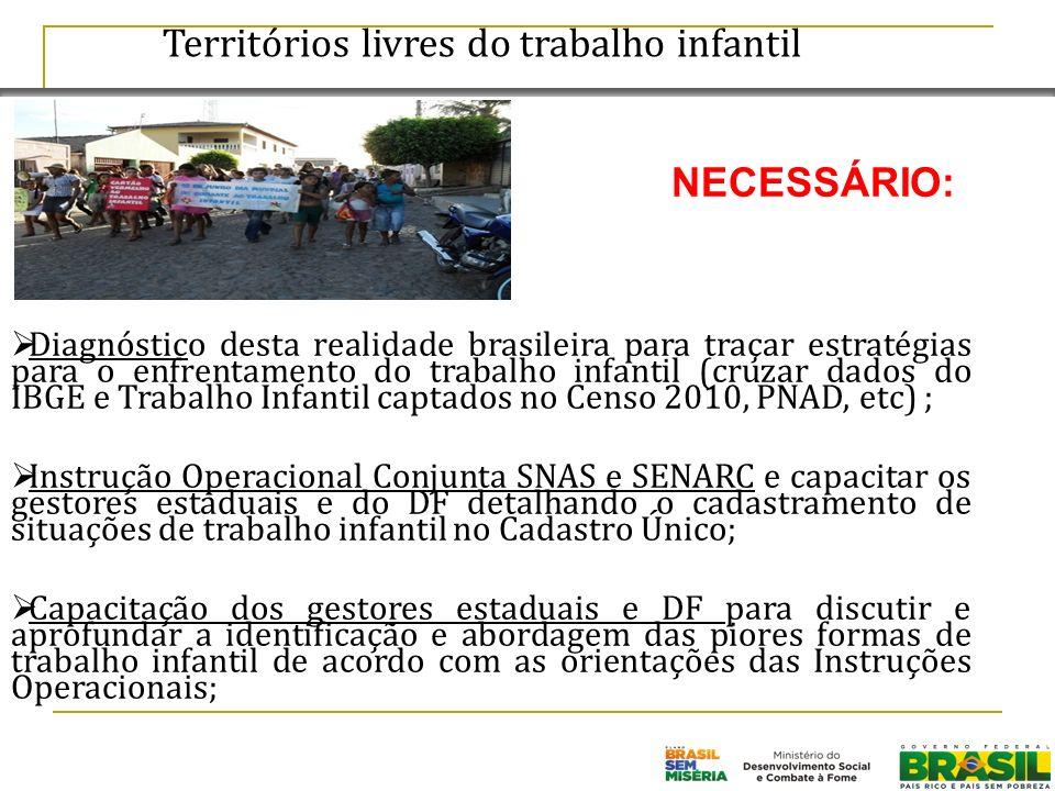 Territórios livres do trabalho infantil Diagnóstico desta realidade brasileira para traçar estratégias para o enfrentamento do trabalho infantil (cruz