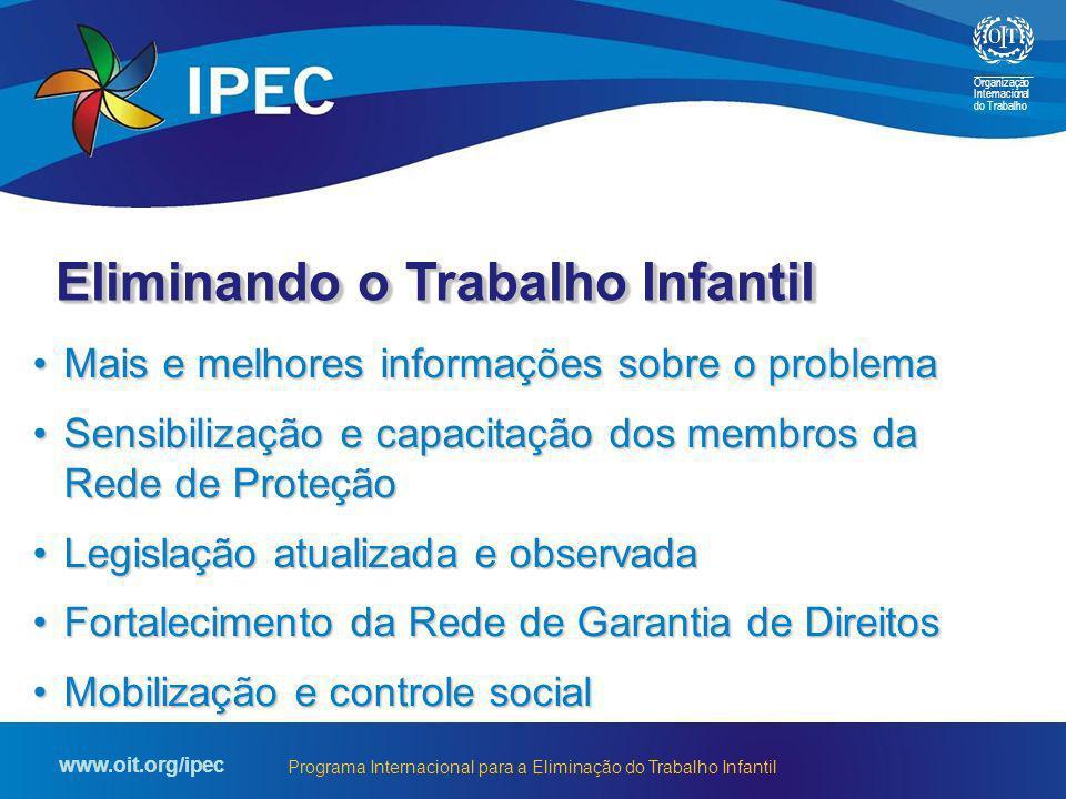 Organização Internacional do Trabalho www.oit.org/ipec Programa Internacional para a Eliminação do Trabalho Infantil Mais e melhores informações sobre