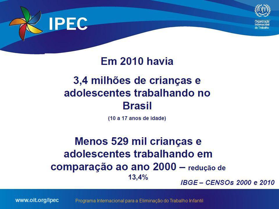Organização Internacional do Trabalho www.oit.org/ipec Programa Internacional para a Eliminação do Trabalho Infantil