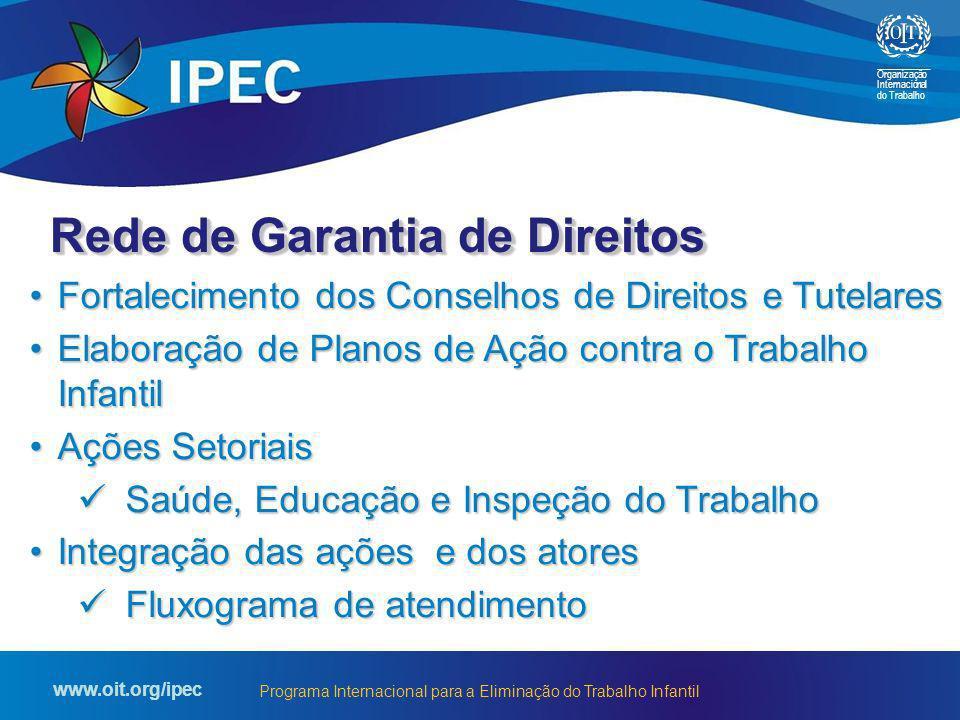 Organização Internacional do Trabalho www.oit.org/ipec Programa Internacional para a Eliminação do Trabalho Infantil Fortalecimento dos Conselhos de D