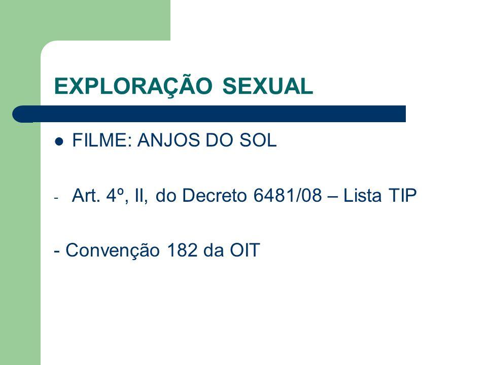 EXPLORAÇÃO SEXUAL FILME: ANJOS DO SOL - Art.