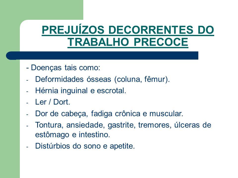 - Doenças tais como: - Deformidades ósseas (coluna, fêmur).