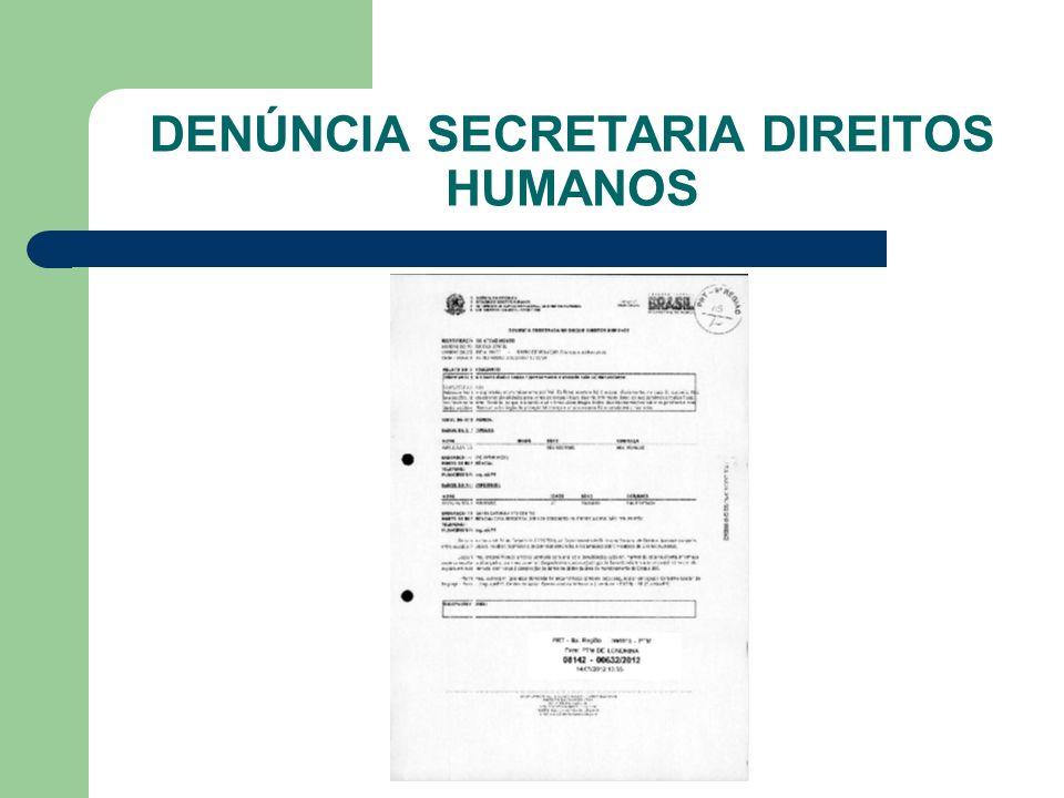 DENÚNCIA SECRETARIA DIREITOS HUMANOS