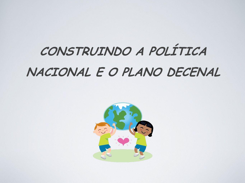 CONSTRUINDO A POLÍTICA NACIONAL E O PLANO DECENAL