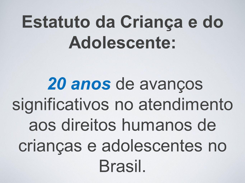 Programas e serviços importantes foram instalados e desenvolvidos ao longo desses anos e, responderam aos princípios da Convenção Internacional sobre os Direitos da Criança, cuja base iluminou a legislação brasileira – ainda que não integralmente.