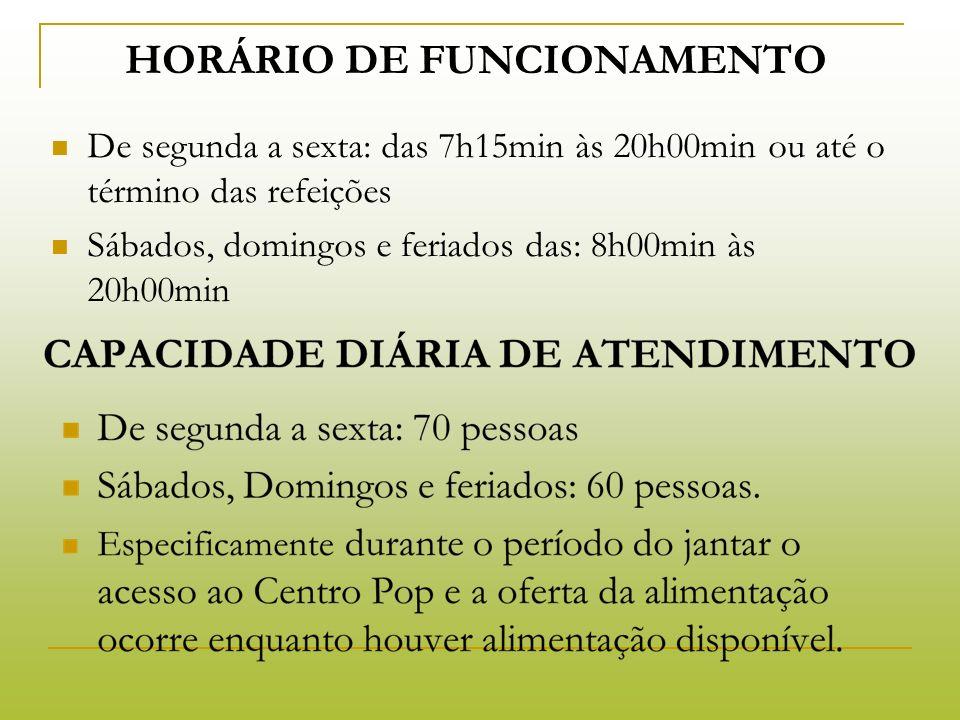 PÚBLICO ATENDIDO: O Centro Pop João Dorvalino Borba atende a população adulta de Curitiba, de ambos os sexos, em situação de rua.