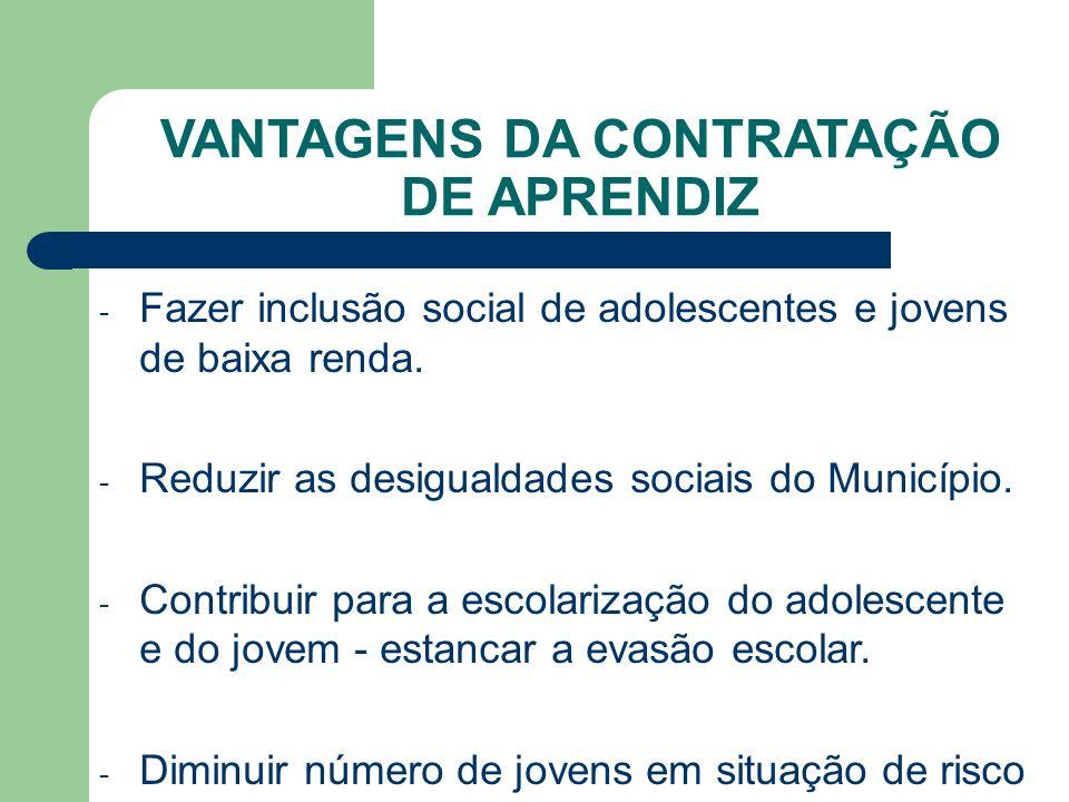 - Fazer inclusão social de adolescentes e jovens de baixa renda.