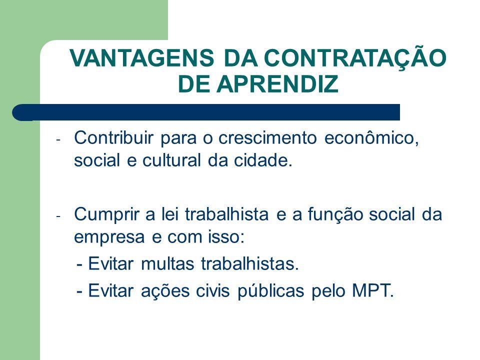 - Contribuir para o crescimento econômico, social e cultural da cidade.