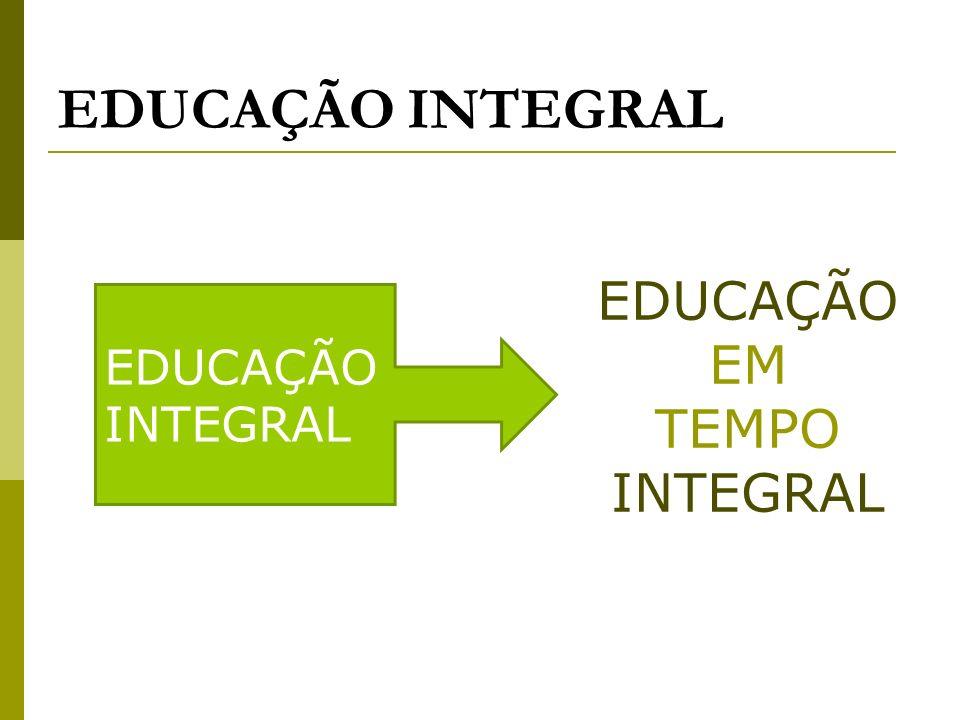 EDUCAÇÃO EM TEMPO INTEGRAL EDUCAÇÃO INTEGRAL