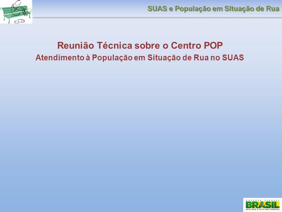Reunião Técnica sobre o Centro POP Atendimento à População em Situação de Rua no SUAS