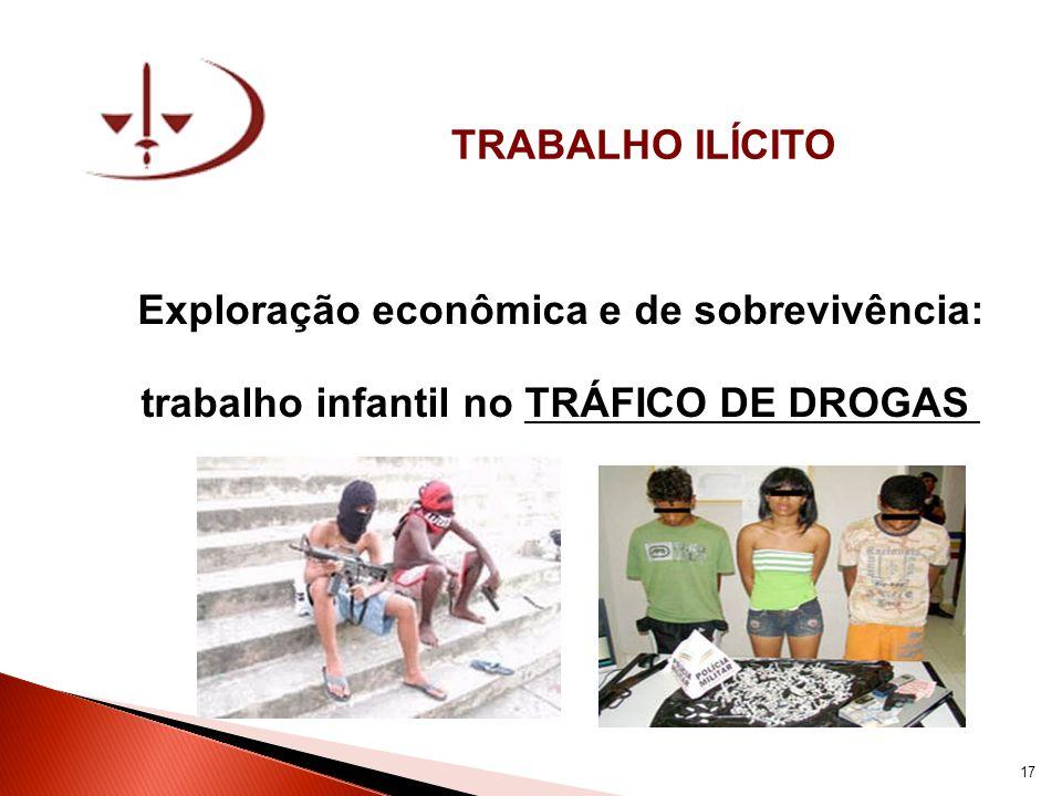 TRABALHO ILÍCITO Exploração econômica e de sobrevivência: trabalho infantil no TRÁFICO DE DROGAS 17