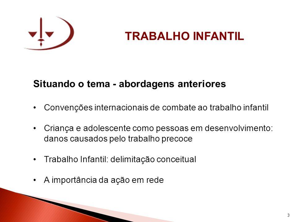 TRABALHO ILÍCITO Exploração econômica e de sobrevivência: EXPLORAÇÃO SEXUAL INFANTIL (COMERCIAL) 24