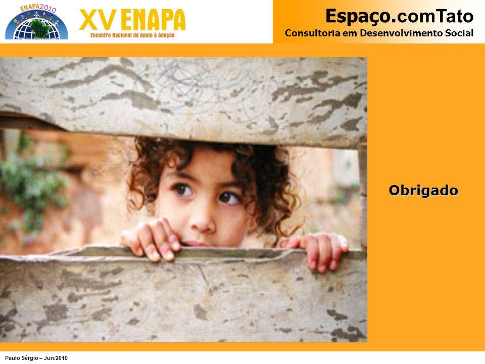 Espaço. comTato Consultoria em Desenvolvimento Social Paulo Sérgio – Jun/2010 Obrigado