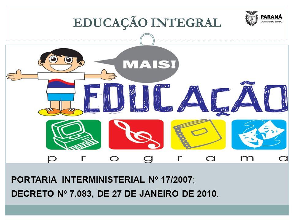 PORTARIA INTERMINISTERIAL Nº 17/2007; DECRETO Nº 7.083, DE 27 DE JANEIRO DE 2010.