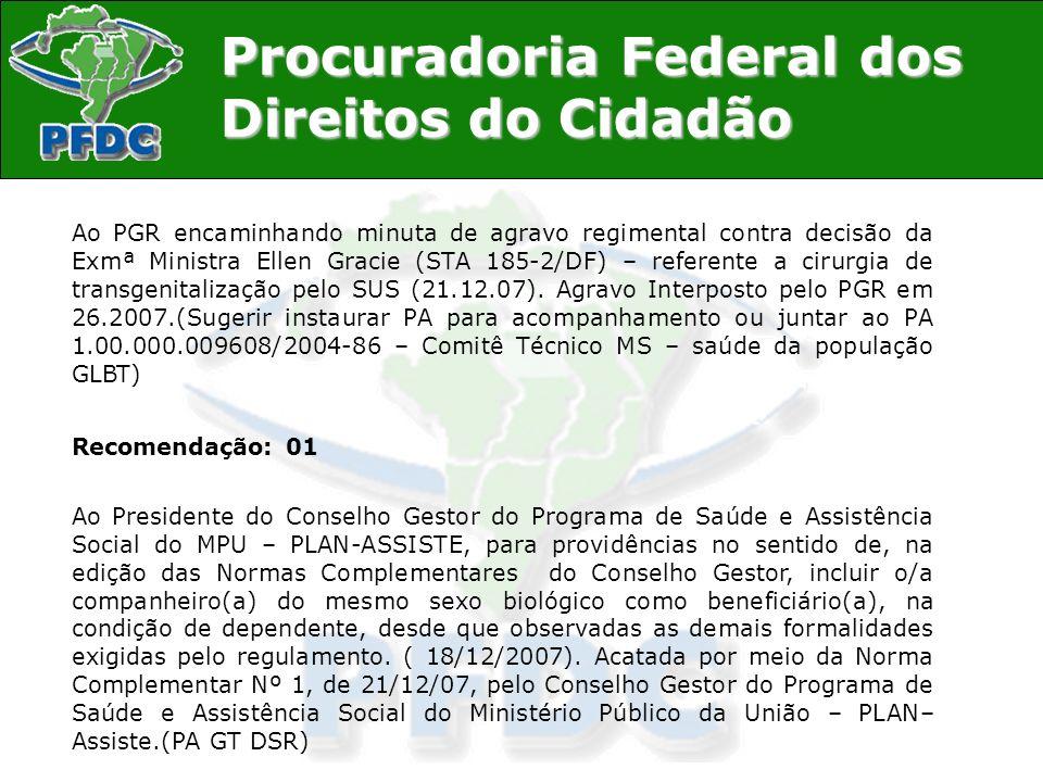 Procuradoria Federal dos Direitos do Cidadão Participação em eventos