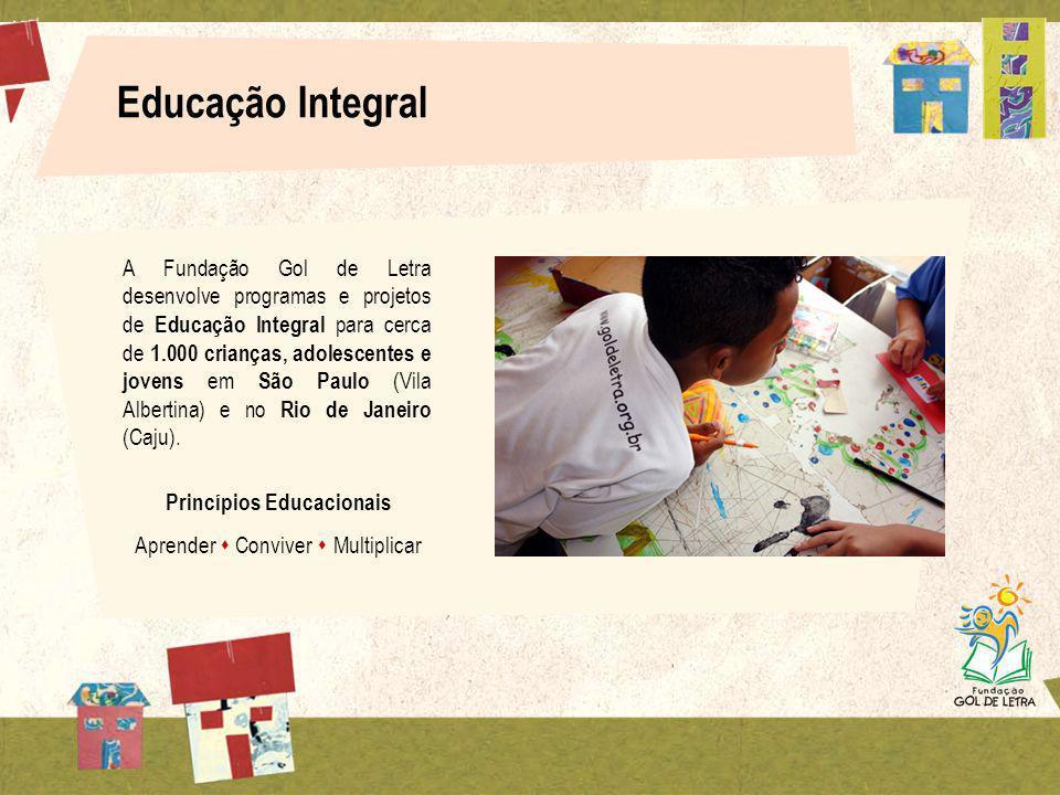 Educação Integral A Fundação Gol de Letra desenvolve programas e projetos de Educação Integral para cerca de 1.000 crianças, adolescentes e jovens em São Paulo (Vila Albertina) e no Rio de Janeiro (Caju).