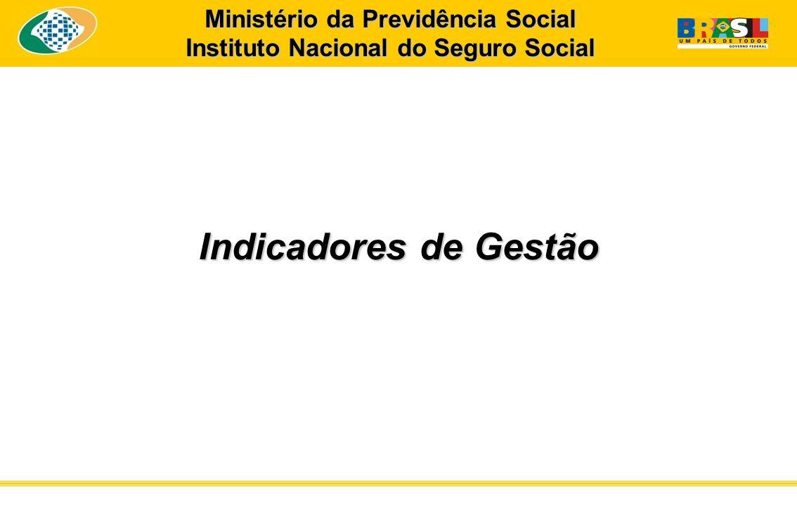 Indicadores de Gestão Ministério da Previdência Social Instituto Nacional do Seguro Social
