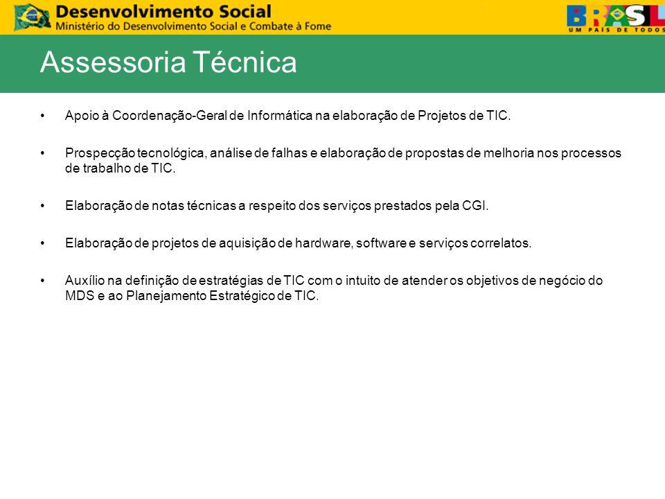 Apoio à Coordenação-Geral de Informática na elaboração de Projetos de TIC.
