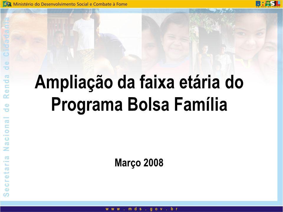 Ampliação da faixa etária do Programa Bolsa Família Março 2008