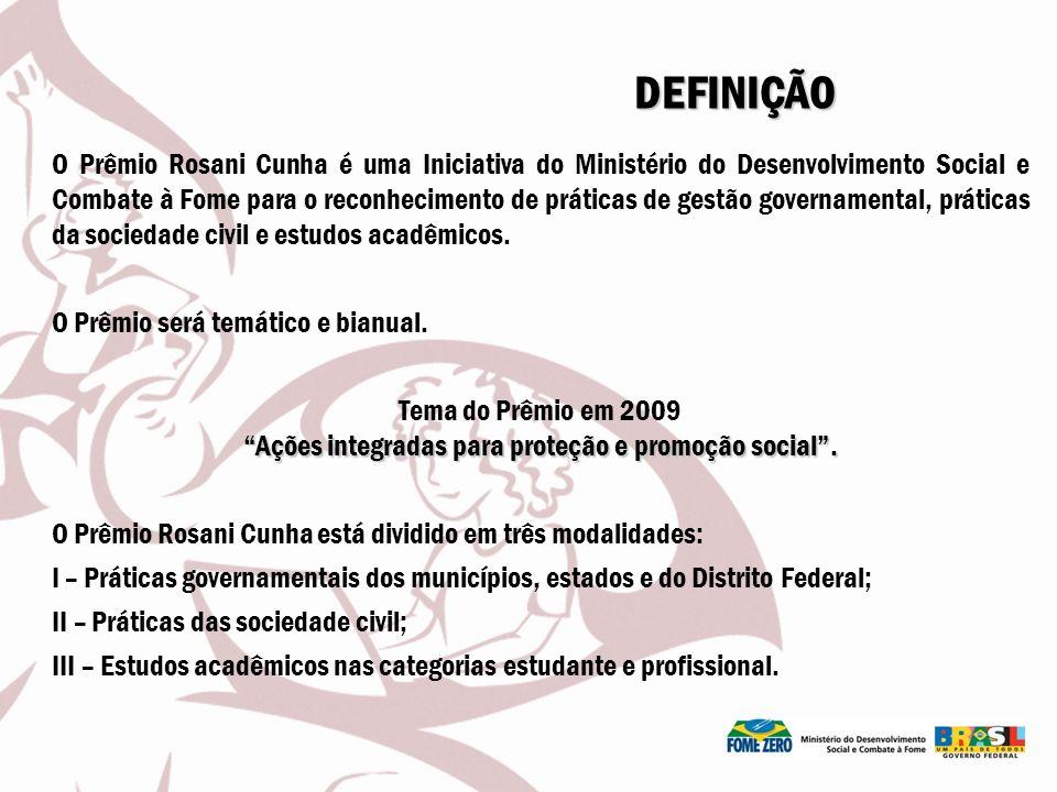 O Prêmio Rosani Cunha é uma Iniciativa do Ministério do Desenvolvimento Social e Combate à Fome para o reconhecimento de práticas de gestão governamen