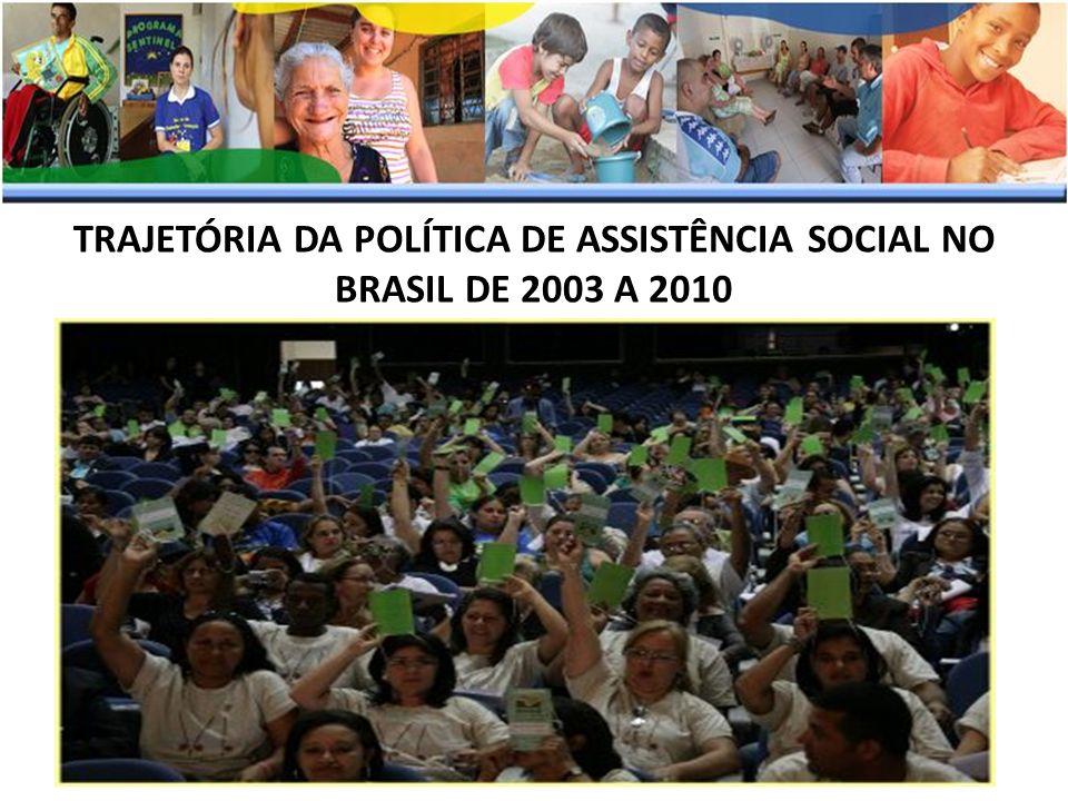 TRAJETÓRIA DA POLÍTICA DE ASSISTÊNCIA SOCIAL NO BRASIL DE 2003 A 2010