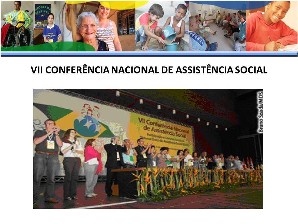 VII CONFERÊNCIA NACIONAL DE ASSISTÊNCIA SOCIAL