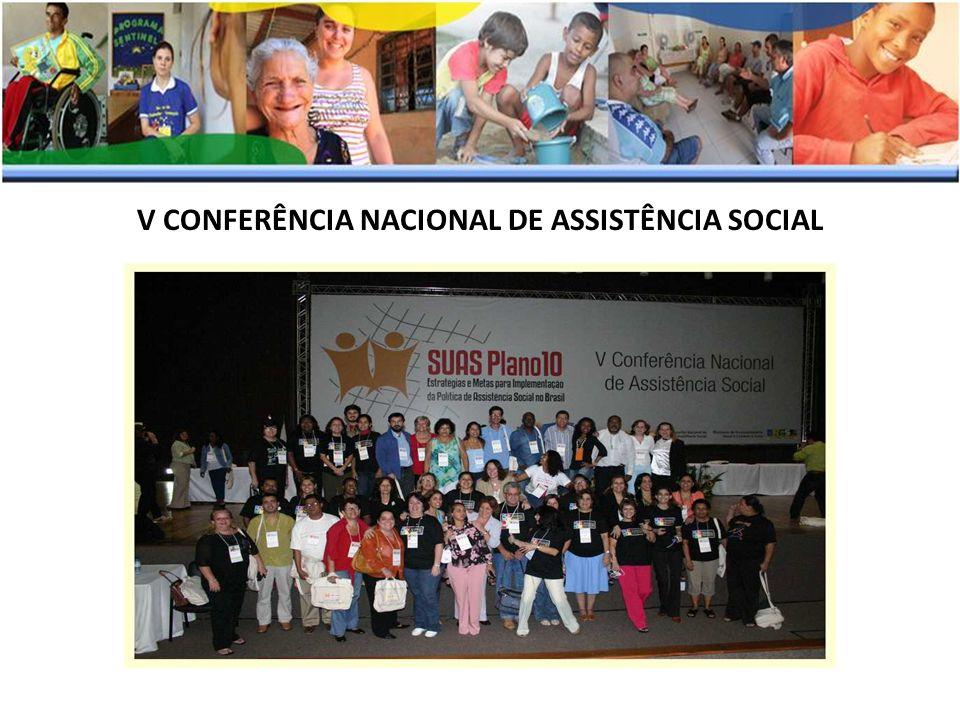 V CONFERÊNCIA NACIONAL DE ASSISTÊNCIA SOCIAL