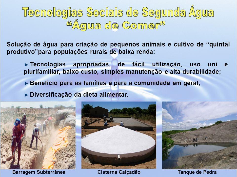 Solução de água para criação de pequenos animais e cultivo de quintal produtivopara populações rurais de baixa renda: Tecnologias apropriadas, de fáci