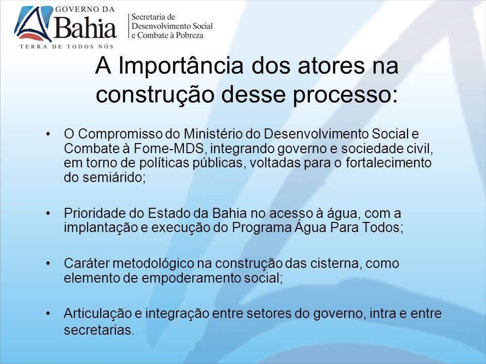 A Importância dos atores na construção desse processo: O Compromisso do Ministério do Desenvolvimento Social e Combate à Fome-MDS, integrando governo