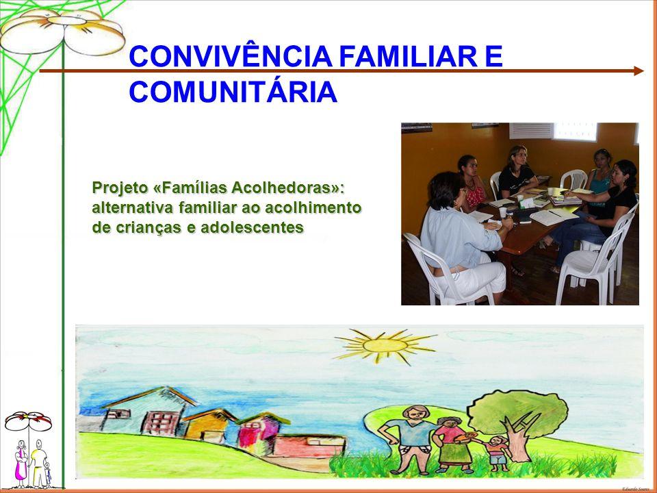 Projeto «Famílias Acolhedoras»: alternativa familiar ao acolhimento de crianças e adolescentes CONVIVÊNCIA FAMILIAR E COMUNITÁRIA